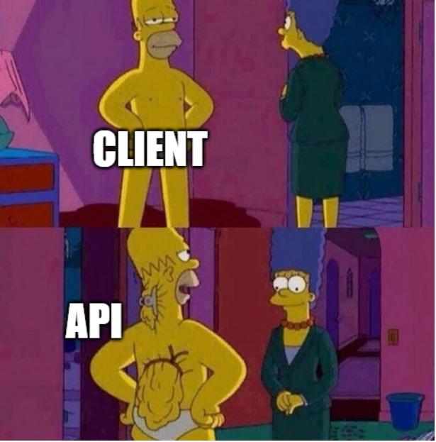 Client vs API