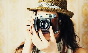 Meisje achter de lens