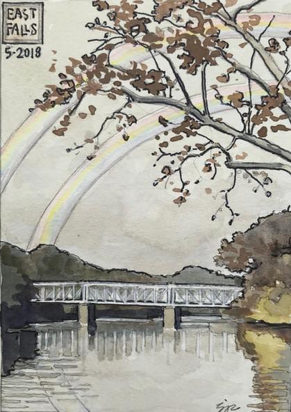 Falls Bridge: Double Rainbow