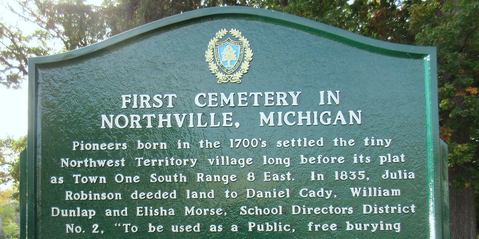 [Online] Virtual Guided Tour of Northville's Oakwood Cemetery