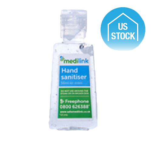 Hand Sanitizer with Alcohol, 1 oz. - Printed
