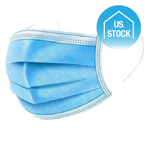 3-Ply Disposable Face Masks - BFE 99% - Sterilized