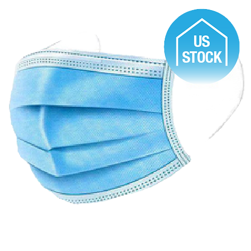 3-Ply Disposable Face Masks - BFE 95%