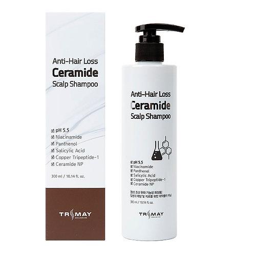 Cлабокислотный шампунь с керамидами против выпадения волос