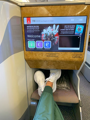 Stretch out in Emirates Business Class