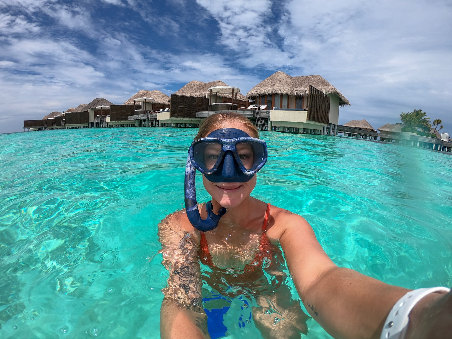 Snorkel from your villa