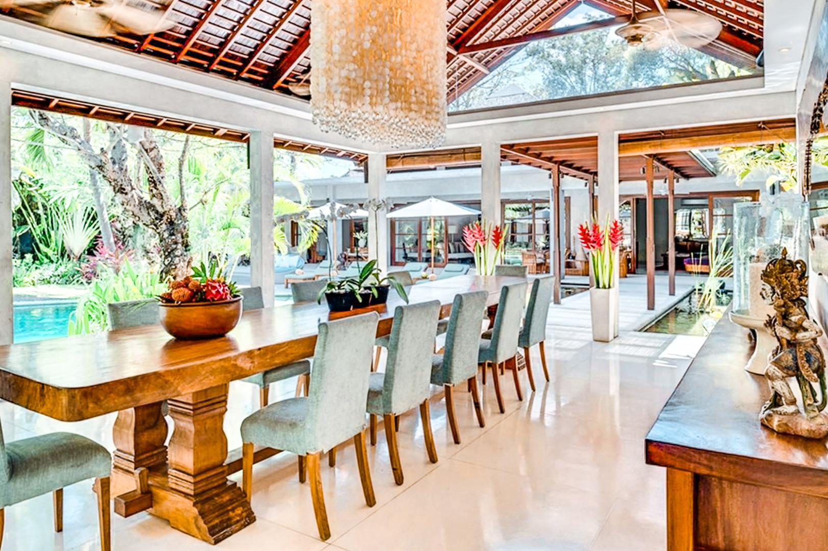 Seminyak Villa Dining Room