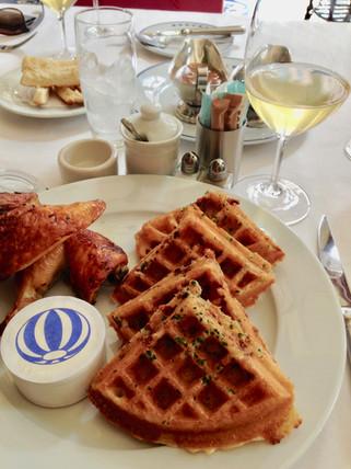 Chicken & Waffles at Bouchon