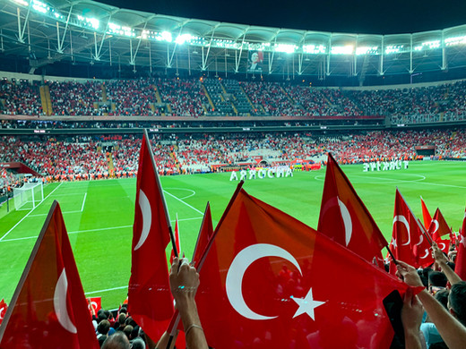 A soccer game in Istanbul