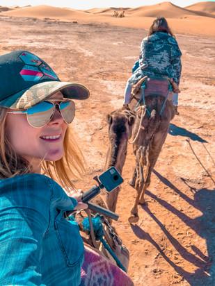 Riding a camel in the Sahara Desert, GoP