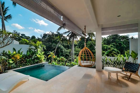 Ubud Villa Pool and Swing
