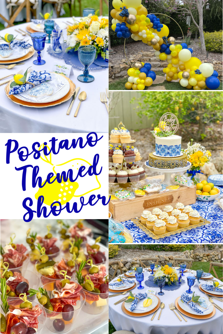 How to throw a beautiful Positano or Amalfi Coast themed shower wihtout an expensive party planner.