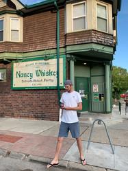 Byron Outside Nancy Whiskey's -- One of