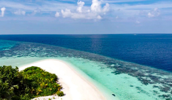 Gaathafushi Island, Maldives, shot with a DJI Mavic Air drone