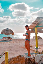 Palapas at Playa Jeremi