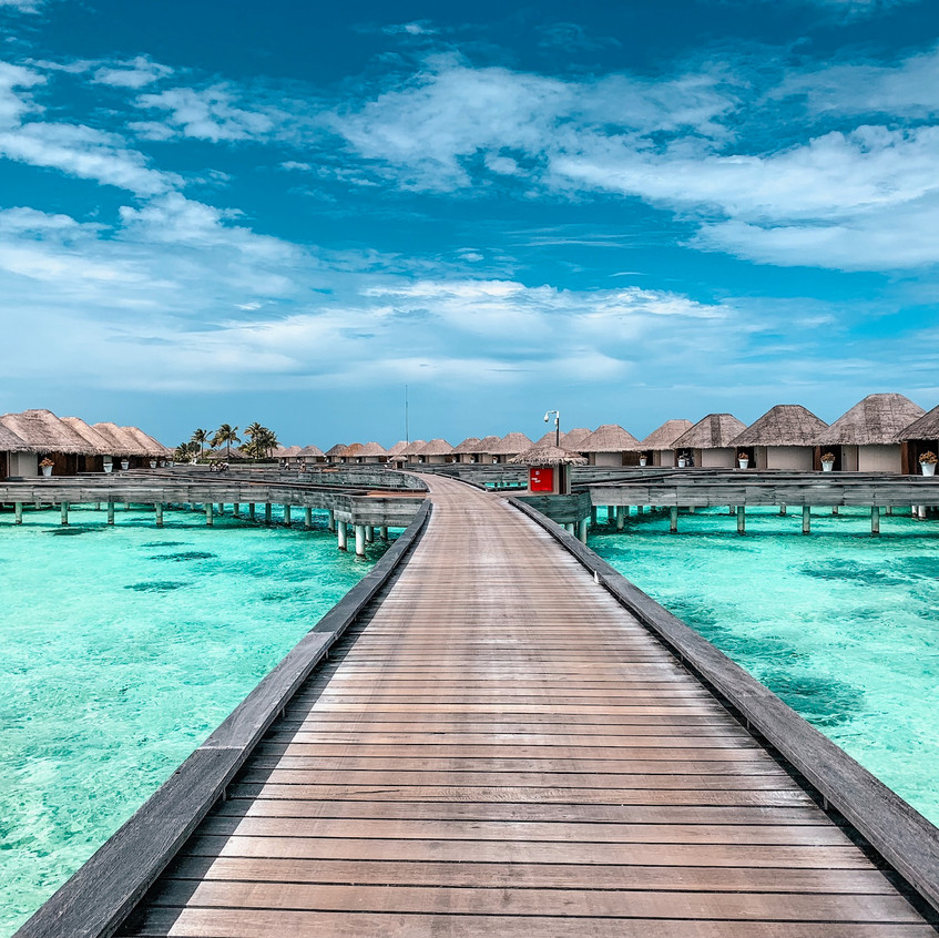 The exclusive overwater bungalows at the W Maldives.