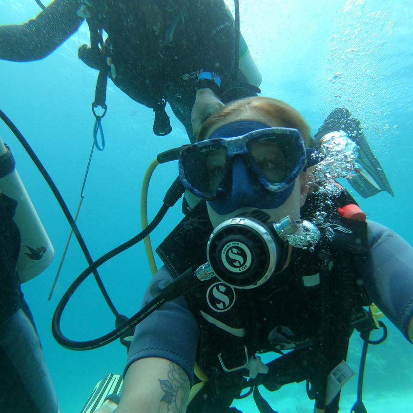 Scuba diving at the W Maldives.