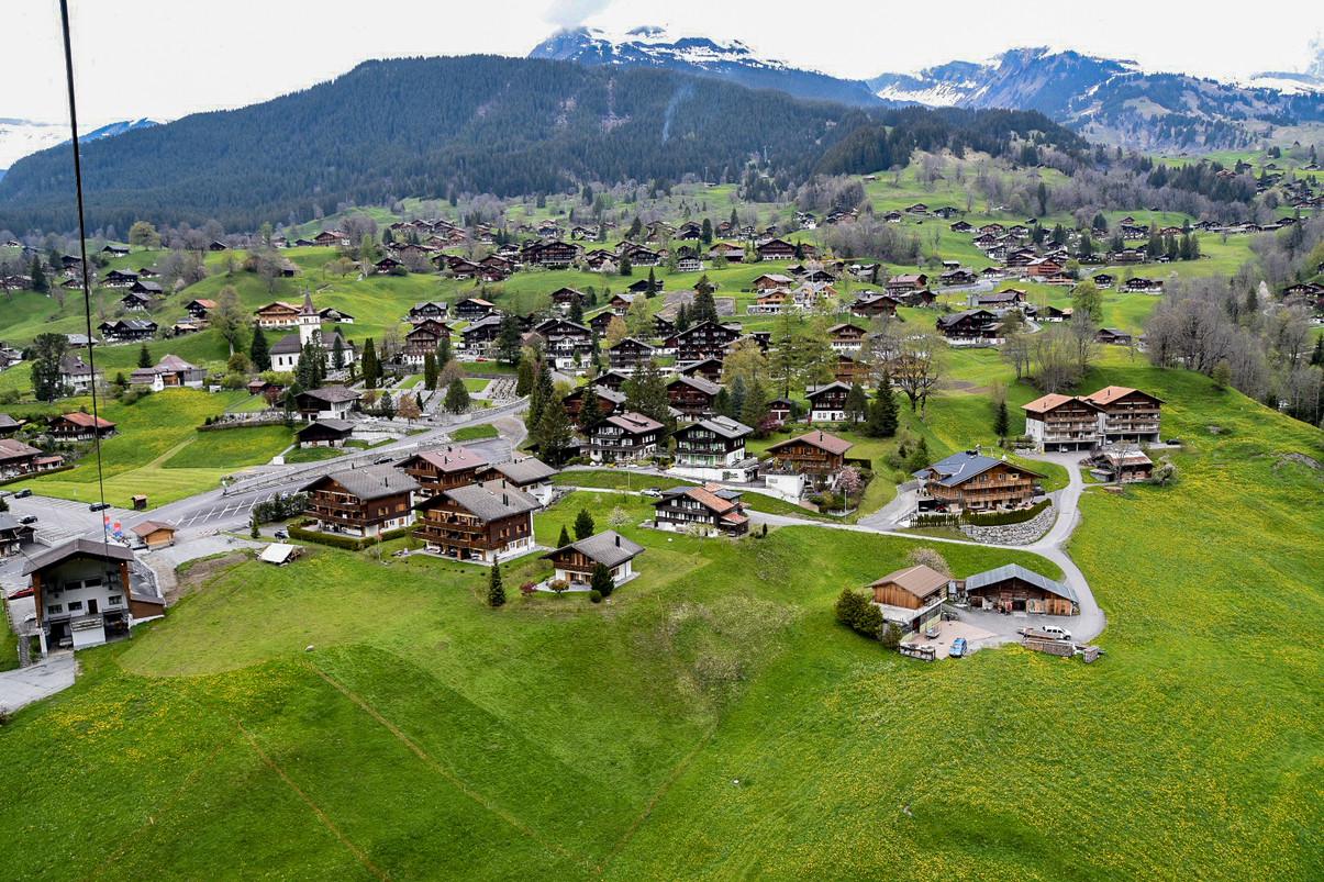 An Aerial Shot in Adelboden