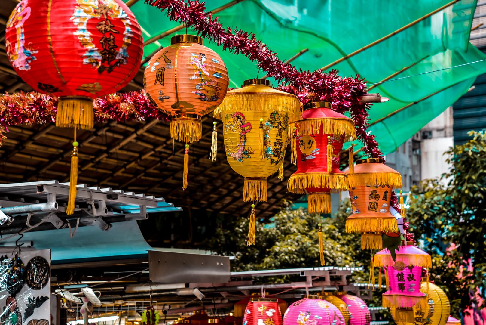 Lanterns in Hong Kong Central