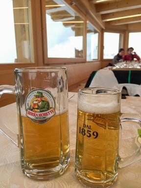 Moretti Beers at Rifugio Capanna Tondi -
