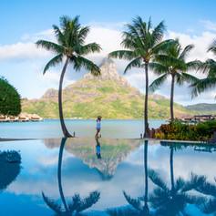 Pool Views of Mt. Otemanu -