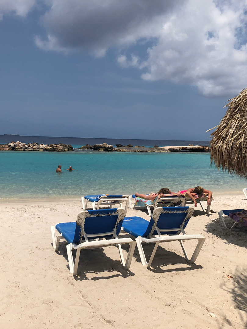 Mambo Beach on a Cloudy Day