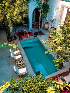 Riad Les Yeux Bleus - Interior Courtyard