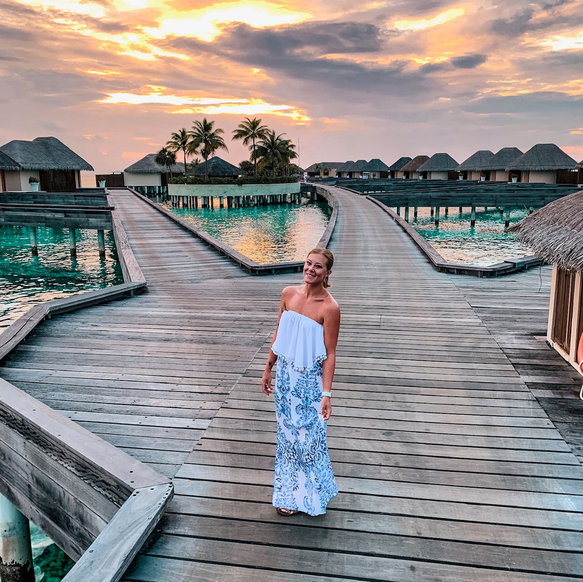 The Maldives are known for the most incredible sunsets.