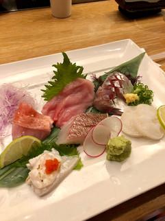 Assorted sashimi at Morimoto's