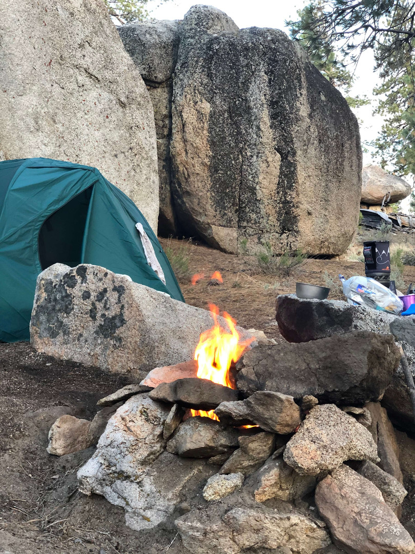 Camping in Domeland Wilderness