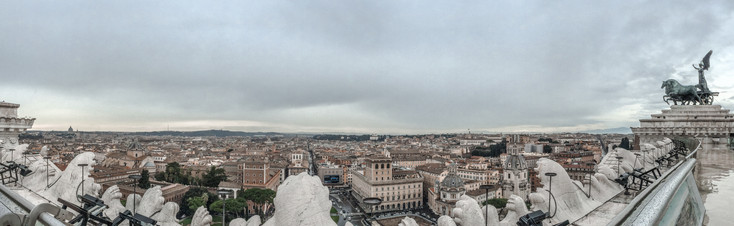 The Views from Atop Victor Emmanuel's Palace