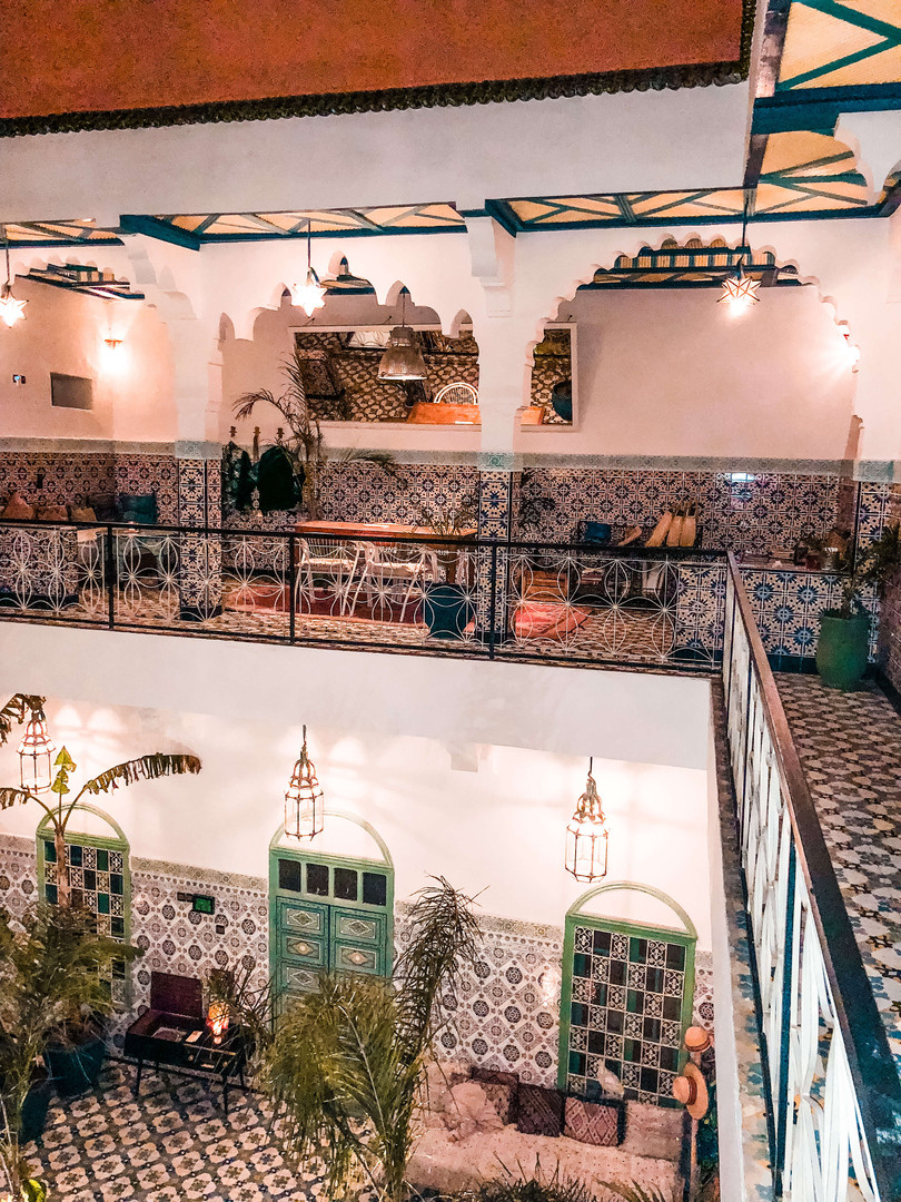 Riad BE Marrakech - Looking down onto th