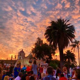 Santa Barbara Mission During Fiesta