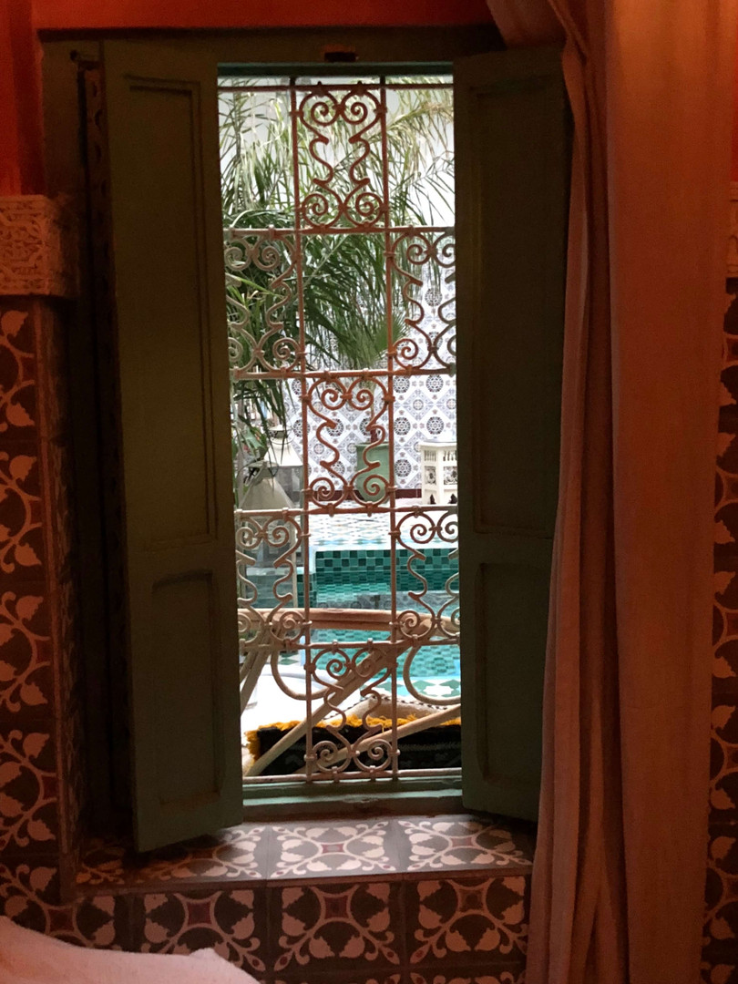 Riad BE Marrakech - Our room, looking ou