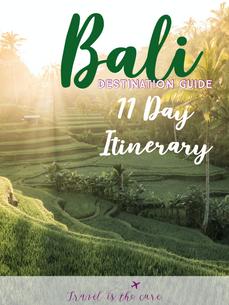 Destination Guide Bali 11 Day Itinerary