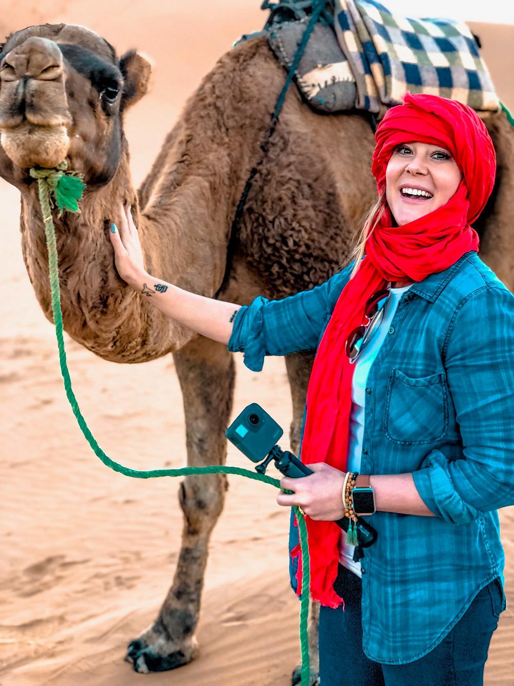Riding Dromedaries in the Desert