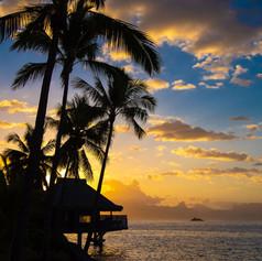 InterContinental Tahiti - Insane Sunset!