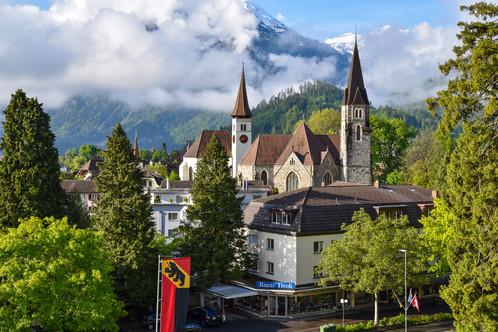 Views of Interlaken from the Lindner Grand Hotel
