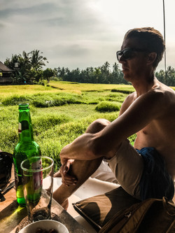 A beer in the rice fields