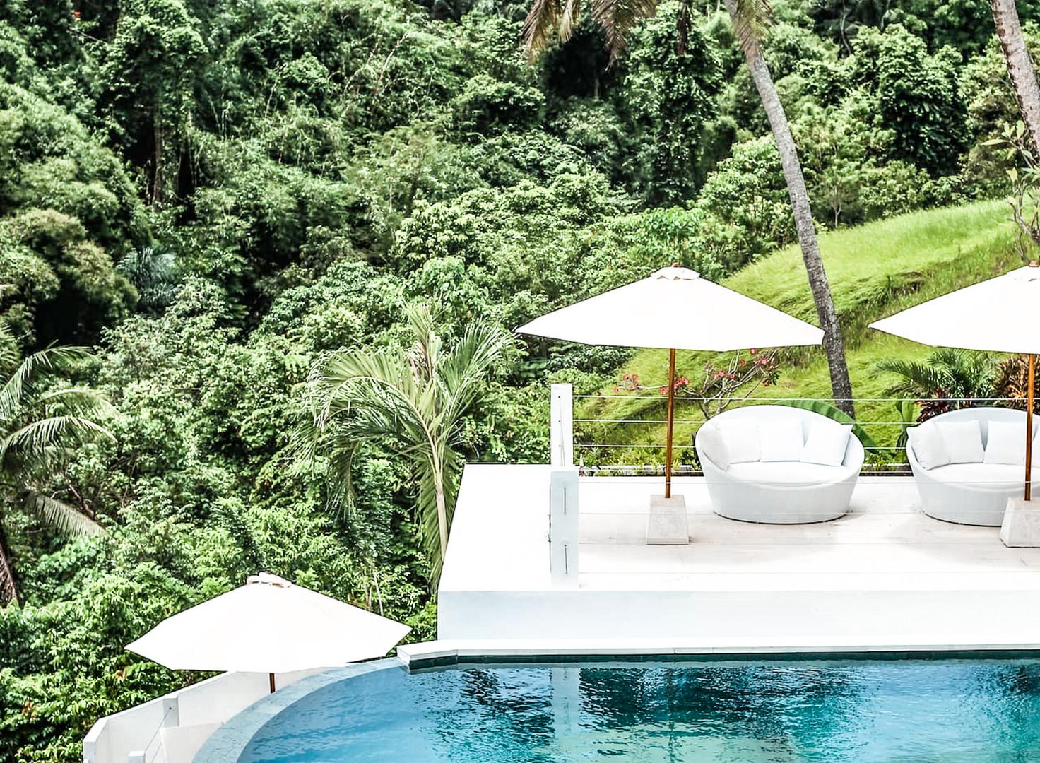 Ubud Villa Pool and Loungers