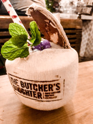 A fun cocktail at the Butcher's Daughter