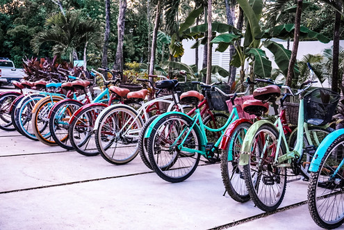 Bikes outside The Panoramic Tulum