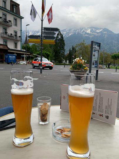 Beers in Downtown Interlaken