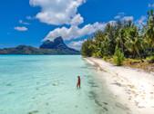 Private Beach - Bora Bora, French Polyne