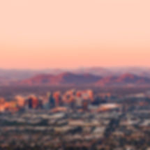 Phoenix Arizona with its downtown lit by