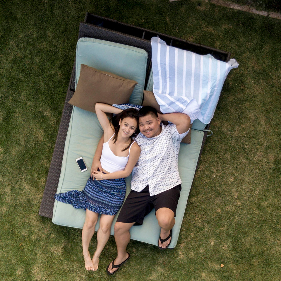 Couple Chilling on the Lounger