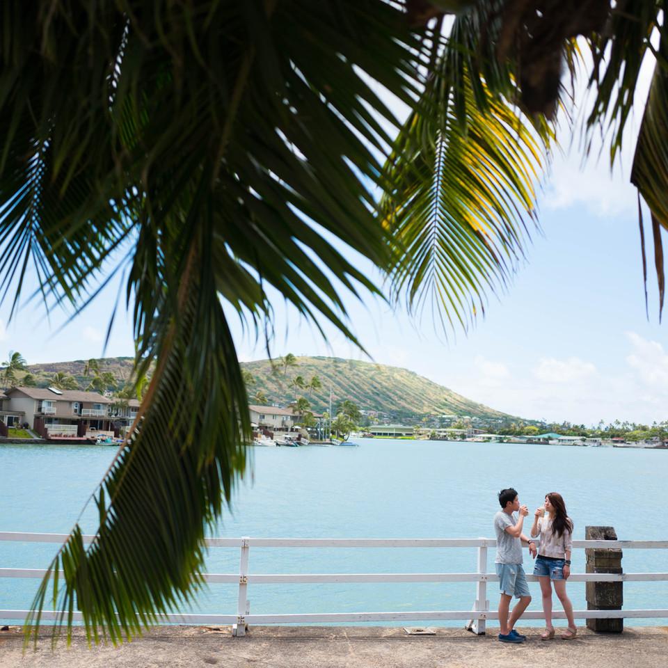 Engagment Session at Koko Marina, Oahu, Hawaii
