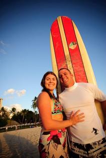 Surfer couple
