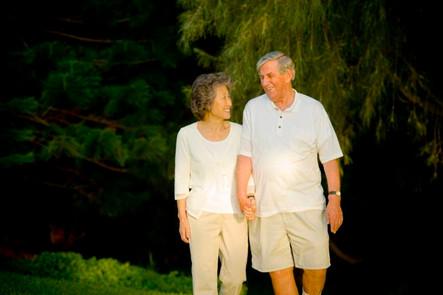 Senior Couple Walking in the park