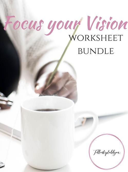 Focus Your Vision Worksheet Bundle